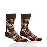 Yo Sox Men's Crew Sock Bear Paw Print