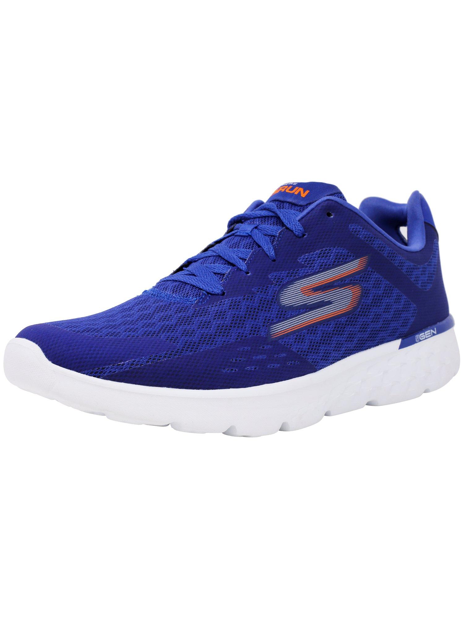 Skechers Men's Go Run 400 - Disperse Blue / Orange Ankle-High Running Shoe 11.5M