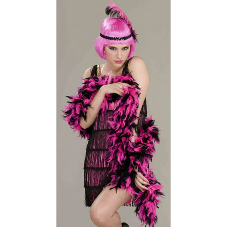 20s Pink And Black Boa - 20s Mens