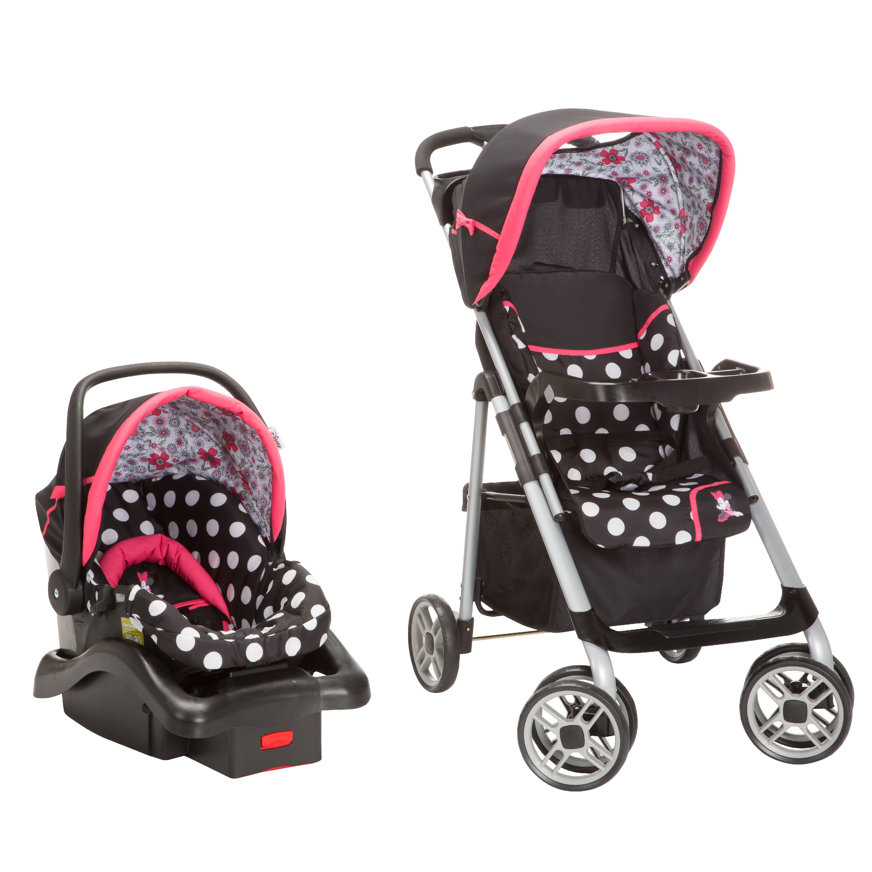Disney Baby Saunter Sport LC-22 Travel System, Minnie Coral Flowers
