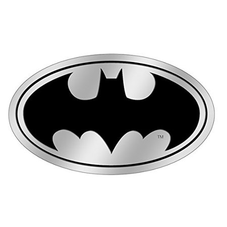 - Officially Licensed, DC Comics Originals Batman Logo 6 cm Embossed Metal Emblem Sticker