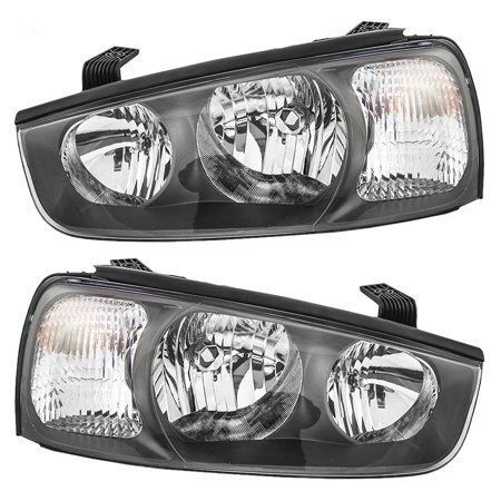 Driver And Passenger Headlights Headlamps Replacement For Hyundai 92101 2d150 92102 2d150