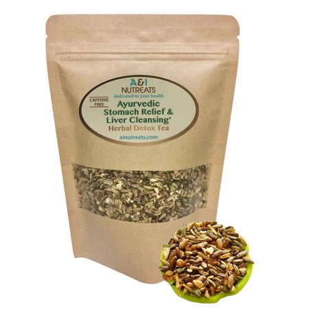 Ayurvedic Detox tea - Antacid Stomach Relief & Liver Cleansing - Organic Loose Leaf Milk Thistle Tea with Fennel, Ginger, Peppermint and Licorice (Loose Tea, 2 oz.) Loose Tea 2 (Best Tea For Milk Tea)