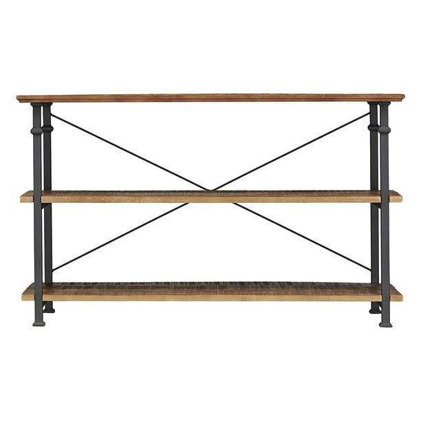 Homelegance Rustic Modern Wood Metal, Tv Stand Sofa Table