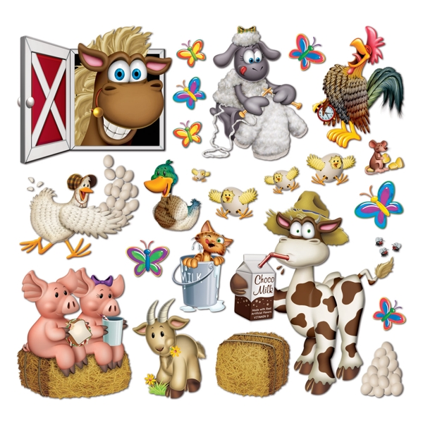 Farm Party Animal Prop Wall Decorations