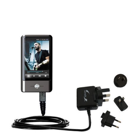 International AC Home Wall Charger suitable for the Coby MP837 Touchscreen Video MP3 Player - 10W Charge supports wall outlets and voltages worldwide