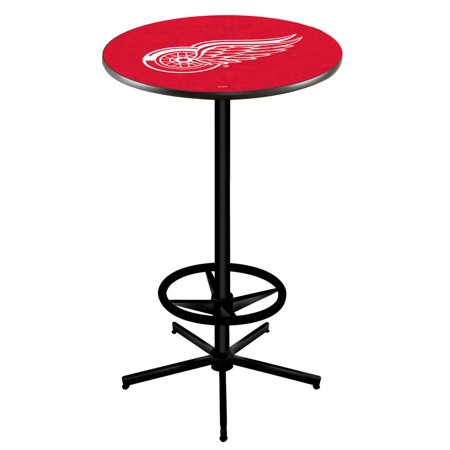 Detroit Red Wings Pub Table - Holland Bar Stool L216B4236DetRed 42 in. Detroit Red Wings Pub Table with 36 in. Top, Black