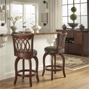 Weston Home Motif Design Swivel Counter Height Stool, Cherry, Multiple Colors