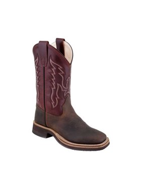 Children's Old West 9 Inch Broad Square Toe Hand Corded Cowboy Boot