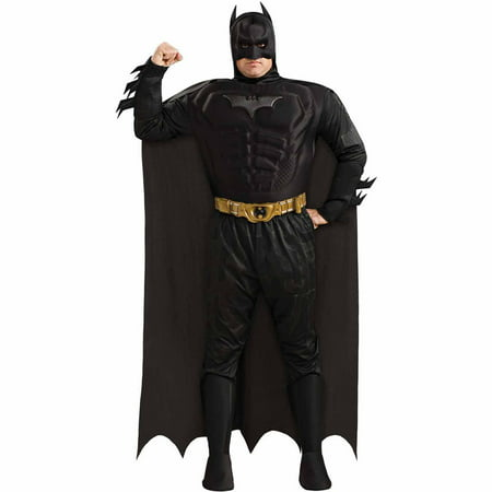 Batman The Dark Knight Rises Muscle Chest Deluxe Adult Halloween Costume - Adult Knight Costumes