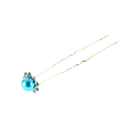OUTAD 1 pcs Simulated-Pearl Crystal Flowers Hair Clip Hairpin Jewelry Acessories - image 10 of 13