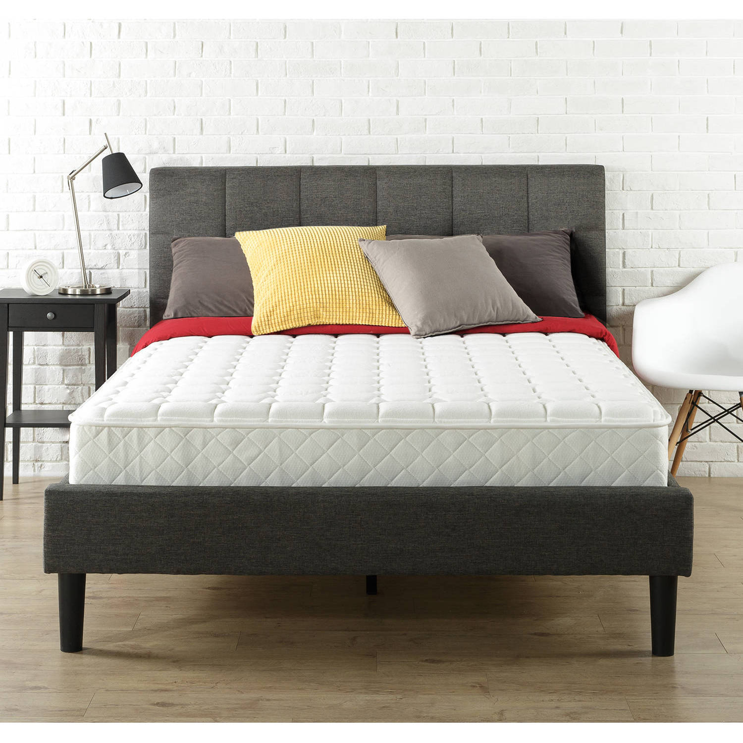 slumber 1 8 spring mattress in a box multiple sizes walmartcom - Walmart King Bed Frame