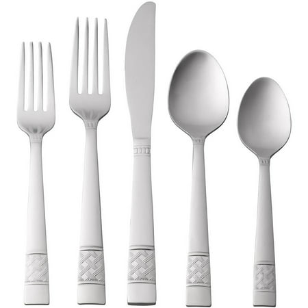 Mainstays Pierremont 20 Piece Stainless Steel Flatware Set