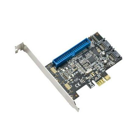 Syba SD-PEX40035 PCIe 1x PATA and 2x SATA3 Raid Controller Card  Speed up to 6
