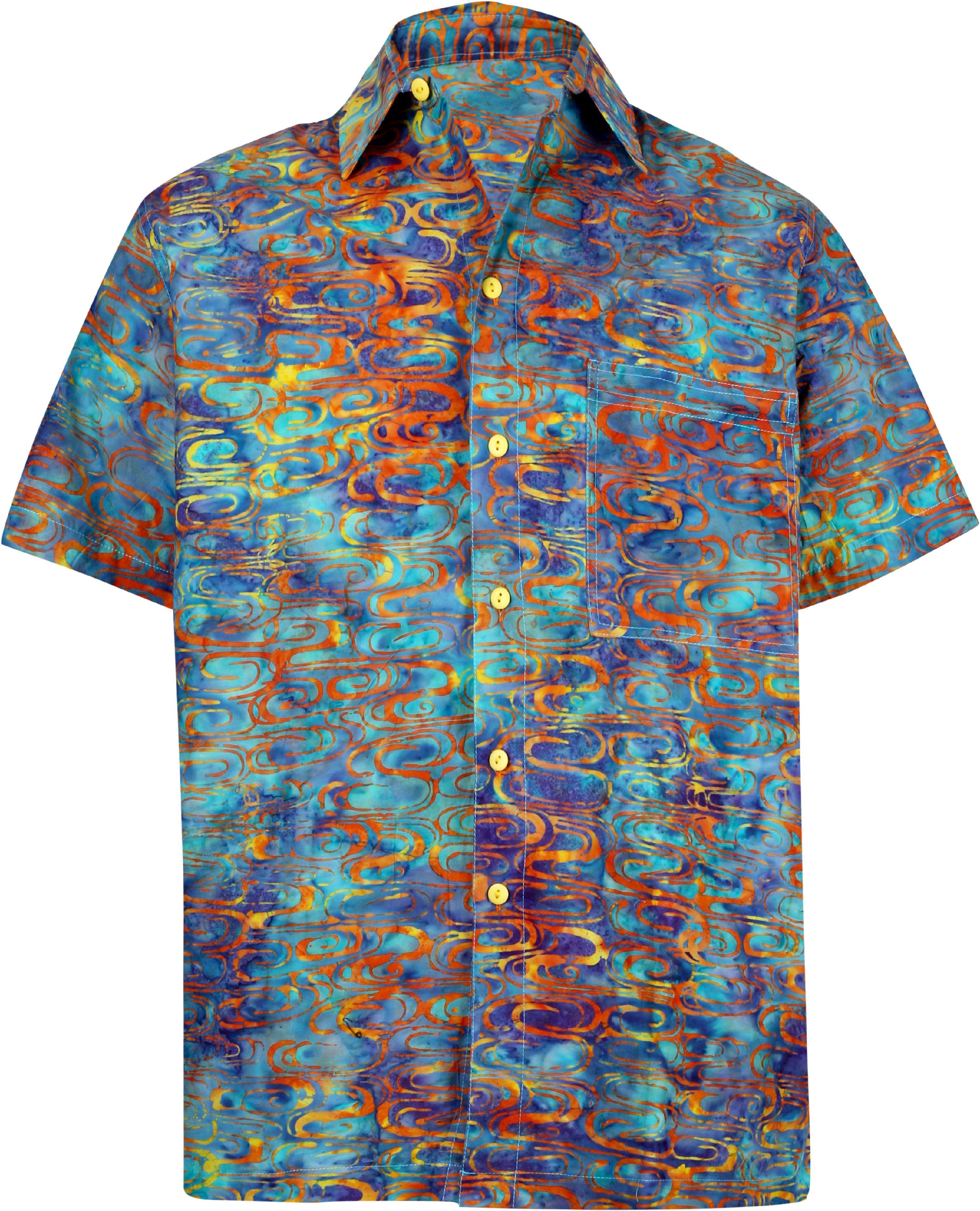 a9ab39a2 LA LEELA Beach Button Down Casual Hawaiian Aloha Short Sleeve Shirt ...