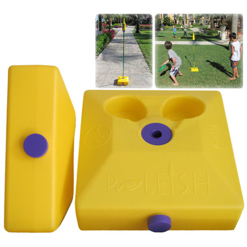 Poleish Sports LLC Two Multi Surface Bases for Use with Standard Game Set