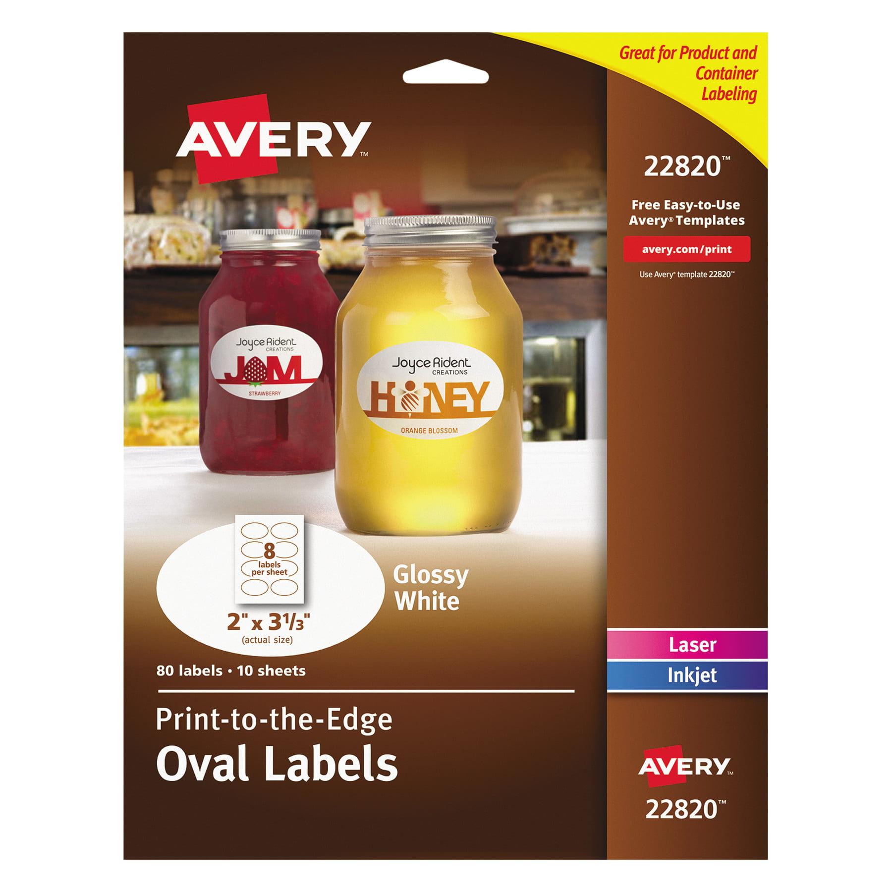 Averyr Print To The Edge Glossy Oval Labels True Printtm 22820