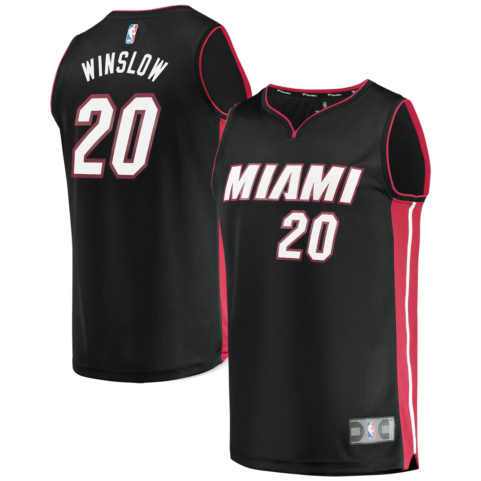 Justise Winslow Miami Heat Fanatics Branded Youth Fast Break Replica Jersey Black - Icon Edition