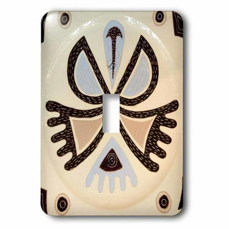 3dRose French Polynesian design ceramic plate craft OC13 BJA0082 Jayne