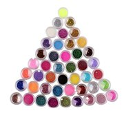 Eforstore 45 Pcs Nail Art Glitter Powder Dust Tips Decoration Mixcolor Sparkle Makeup Body Painting Nailart Manicure DIY Dec
