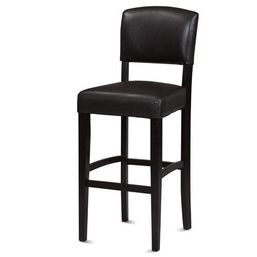 Linon Monaco Bar Stool Espresso 30 Inch Seat Height
