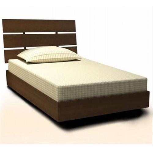 Nexera Nocce Modern Platform Bed in Truffle Finish-Twin