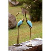 Stylized Garden Crane Pair