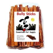 "Downtown Pet Supply 6"" BULLY STICKS - Free Range Standard Regular Thick Select 6 inch Dog Dental Chew Treats, USDA/FDA Approved"