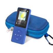 AGPTEK A02 8GB MP3 Player with Case, 70 Hours Playback Lossless Sound Music Player,Supports up to 128GB, Dark Blue