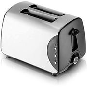 Stainless Steel Toaster 2 Slice,Home Multi-Function Breakfast Machine,with Browning Control, Removable Crumb Tray,Cancel, Defrost, Reheat Functions