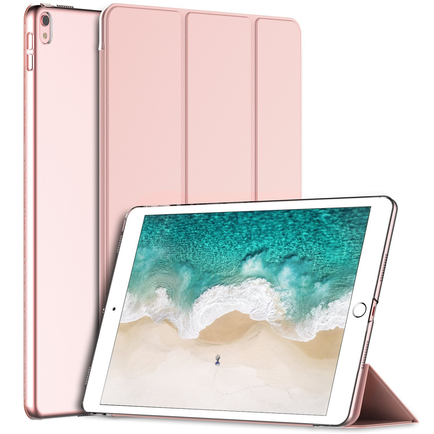iPad Pro 10.5 Case, SuprJETech Case Cover for the New Apple Inch 2017 Model with Auto Sleep/Wake (Rose Gold) - Walmart.com