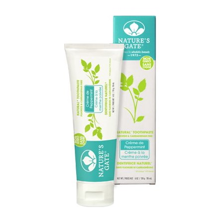 Toothpaste-Creme Peppermint Tube Nature's Gate 6 oz Paste