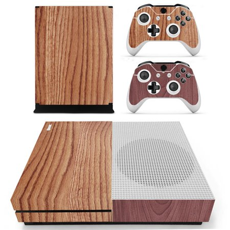 10 Styles Wood Grain Designer Removable Skin for XBOX ONE S Game Console +  2 Controller Sticker Decals