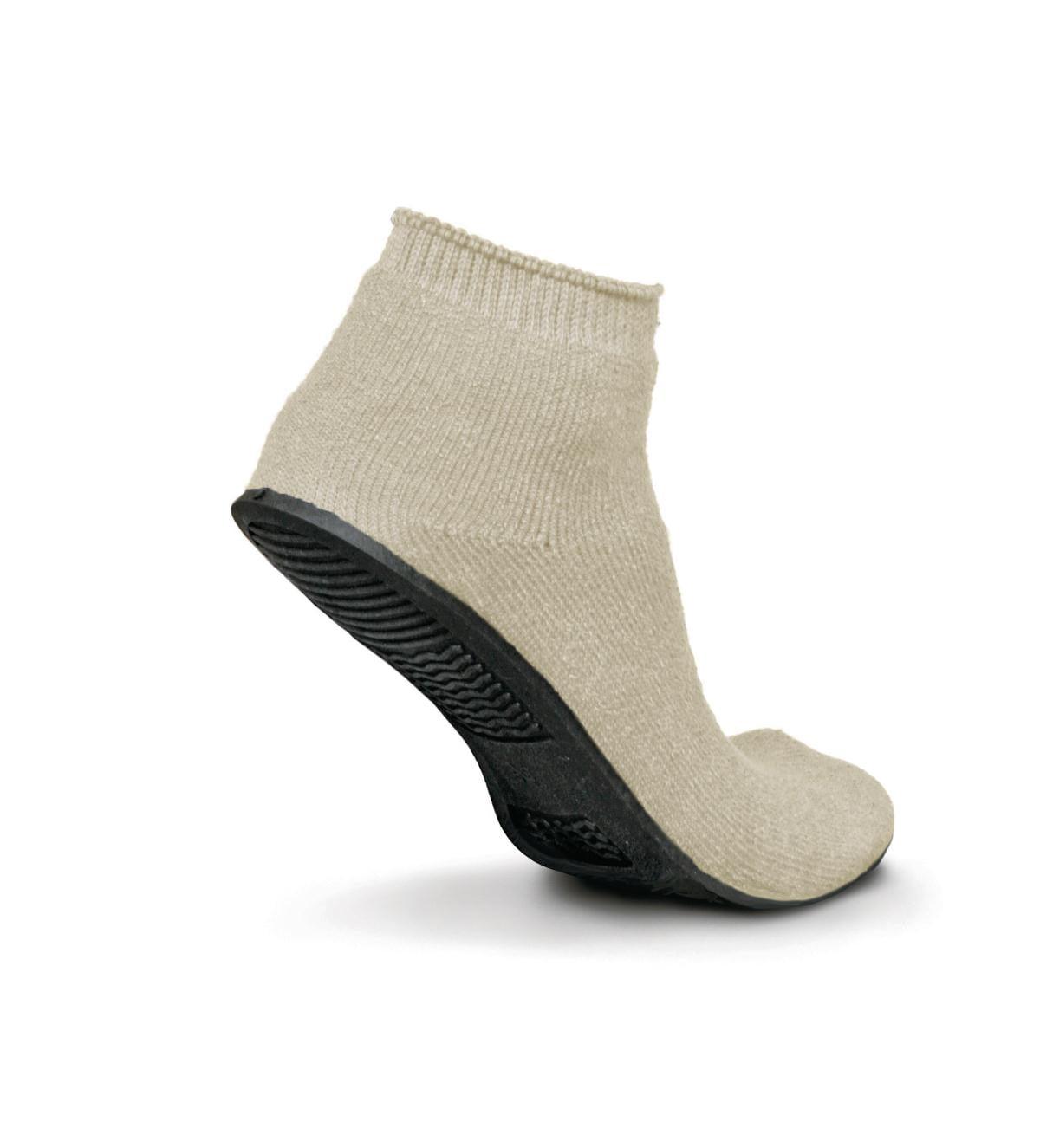 Terrycloth Low Ribbed Ankle Slipper Socks (1 Dozen)