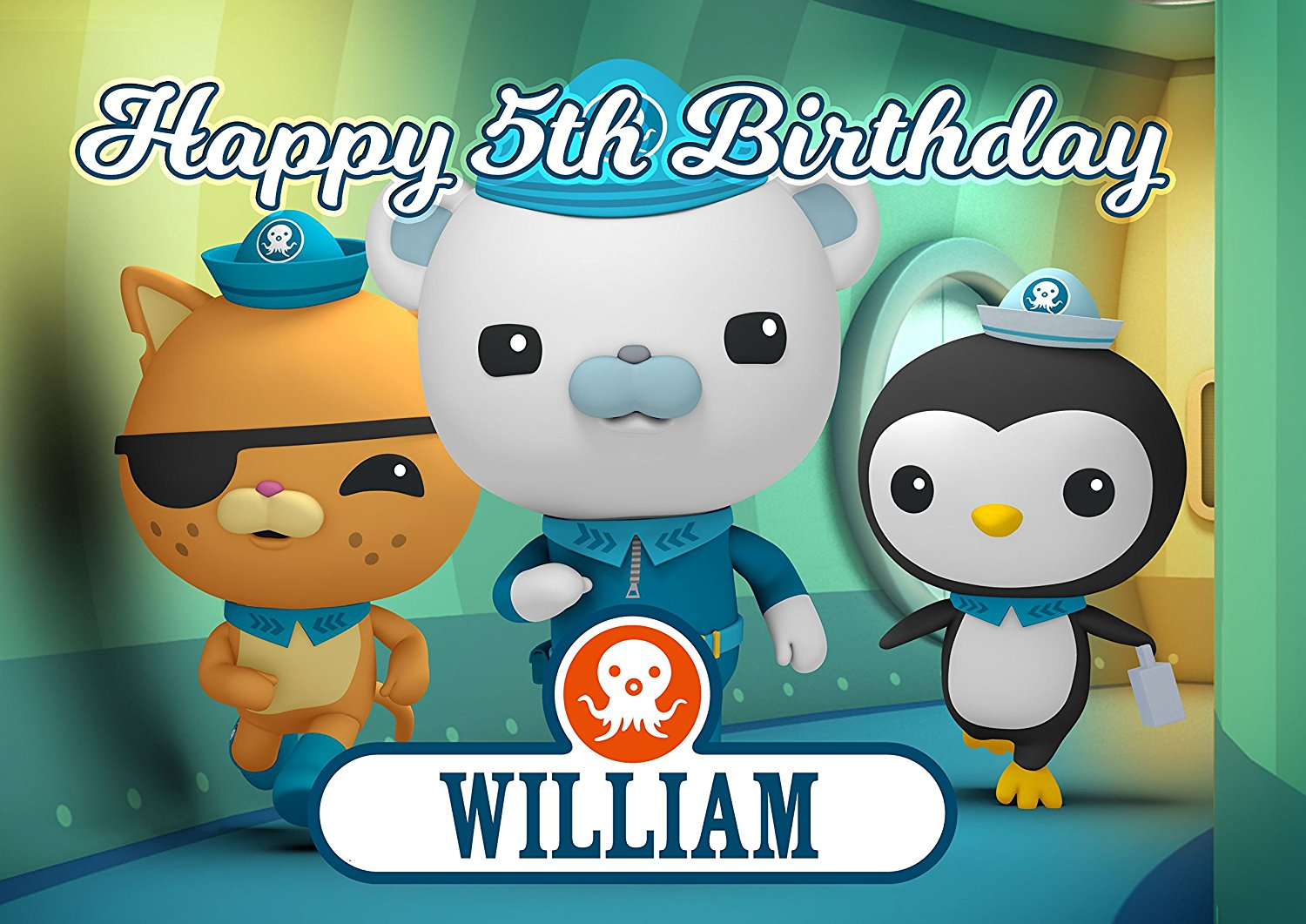 Octonauts Disney Junior Birthday Cake Personalized Toppers Edible Frosting Photo Icing Sugar Paper A4 Sheet 1 4
