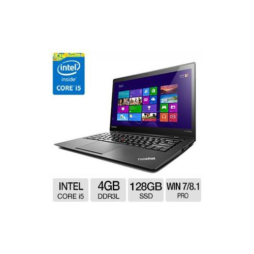 """Lenovo ThinkPad X1 Carbon 20A7 Ultrabook - Intel Core i5, 4GB DDR3L, 128GB SSD, 14.0"""" Display, Windows 7 Professional/Wi"""