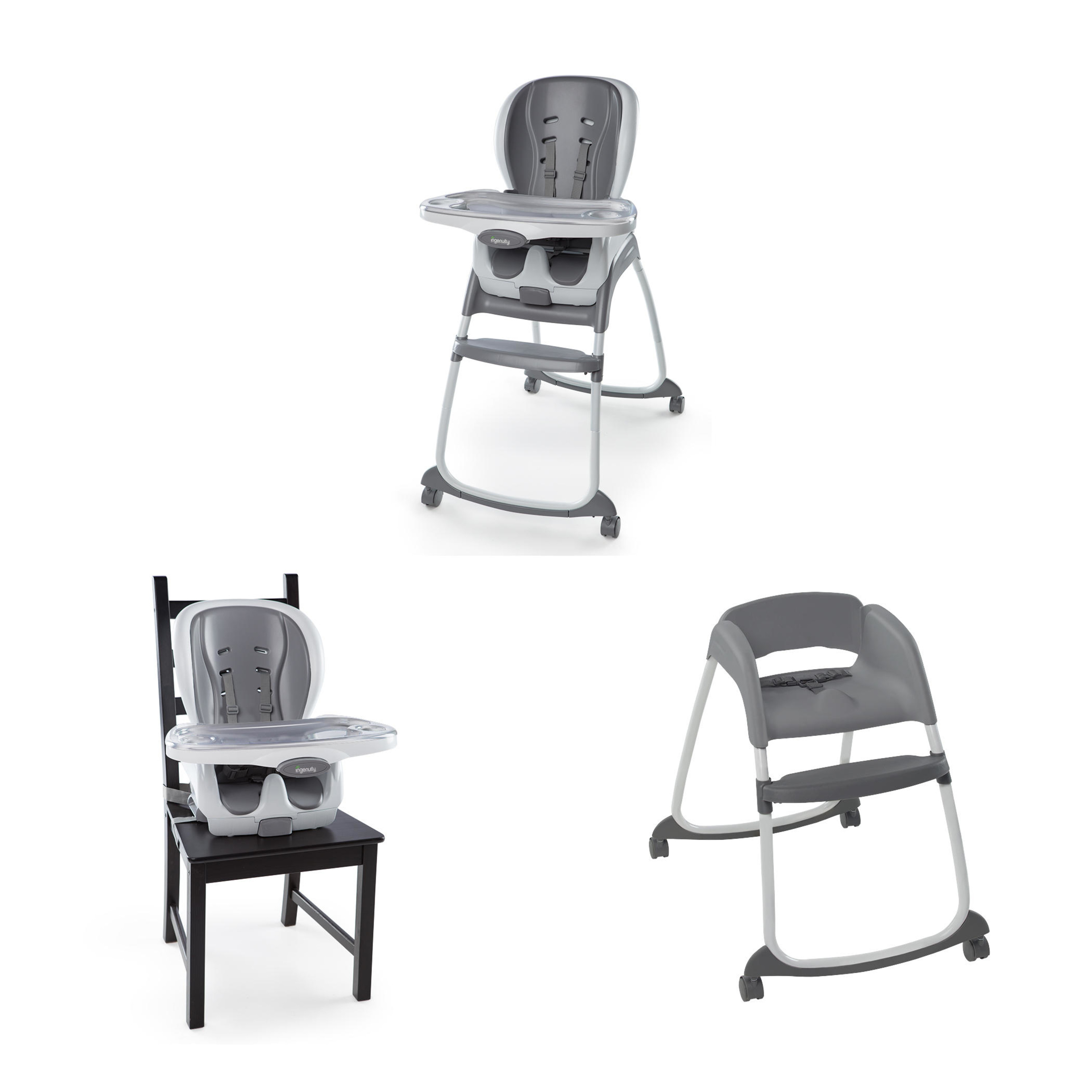 Ingenuity Smartclean Trio 3 In 1 High Chair Slate by InGenuity
