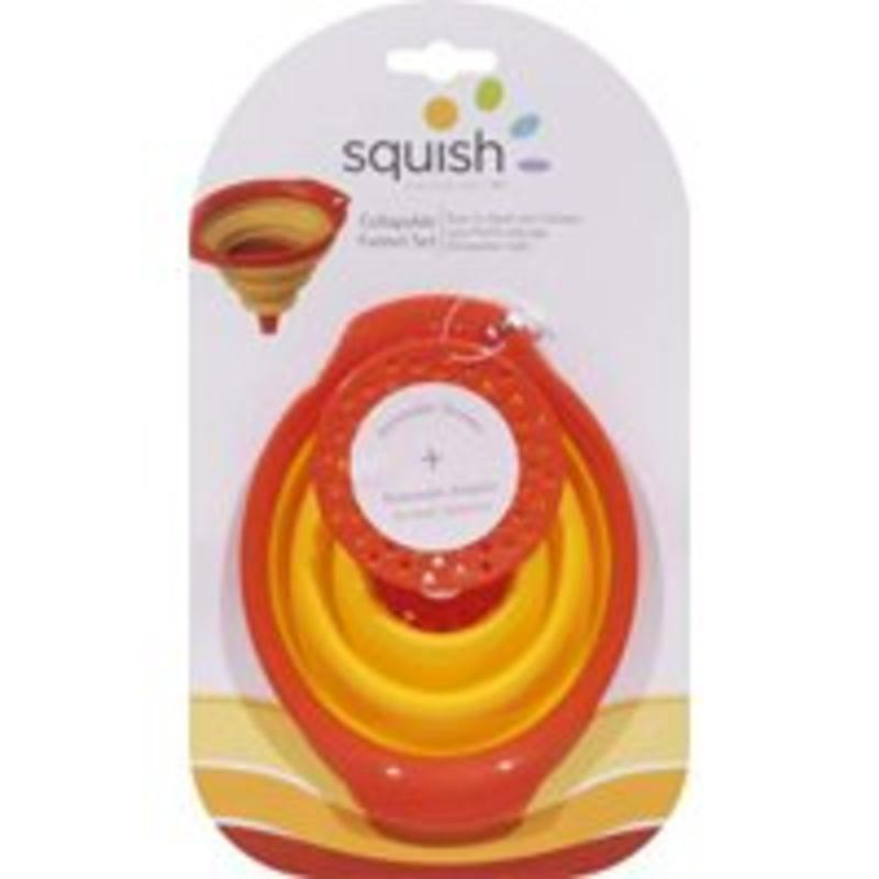 Squish 3Pc Collap Funnel Set Robinson Home Products Funnels 41011 073287410114