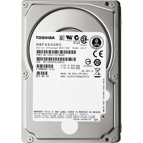 Toshiba - MBF2600RC - Toshiba MBF2-RC MBF2600RC 600 GB 2.5 Internal Hard Drive - SAS - 10025rpm - 16 MB Buffer - Hot