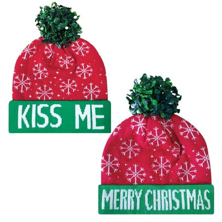 Dakota Dan Trendy Christmas Mistletoe Beanie Hats - Unique Costume Accessories and Christmas Season Gift Ideas - Trendy Costume Ideas
