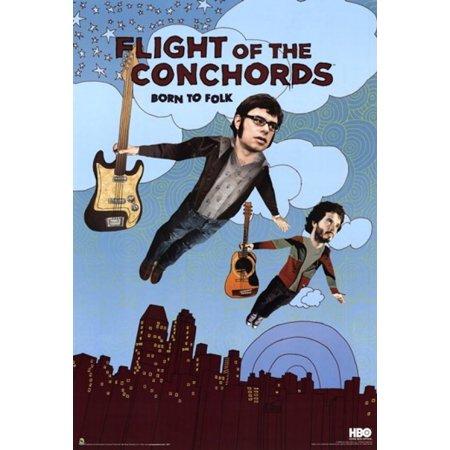 Flight of the Conchords - Season 2 - Born to Folk Poster Poster Print (Flight Of The Conchords Poster)