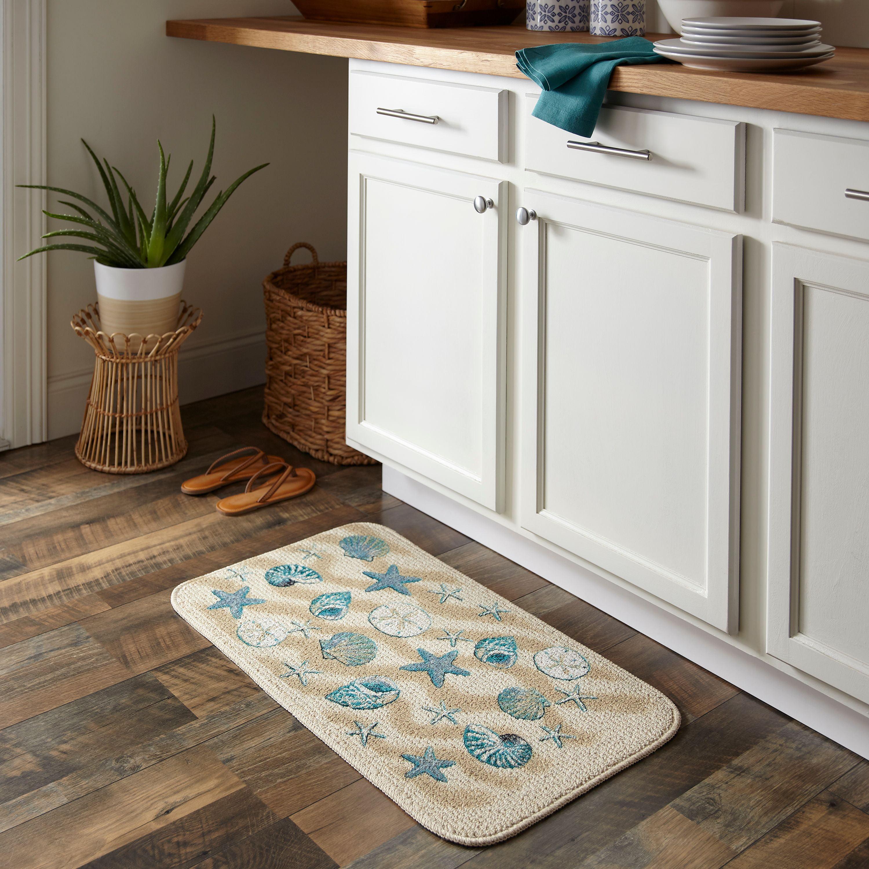 "Kitchen Design Trend Keep It Costal: Mainstays Nature Trend Coastal Kitchen Mat, 18"" X 30"