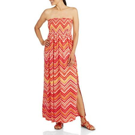 e9f6ae81cdd3a Faded Glory - Women's Bree Strapless Maxi Dress - Walmart.com
