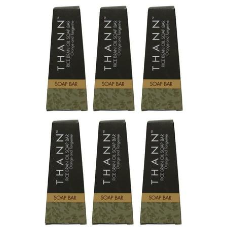 Thann Rice Bran Oil Soap lot of 6ea 1.3oz Bars. Total of 7.8oz