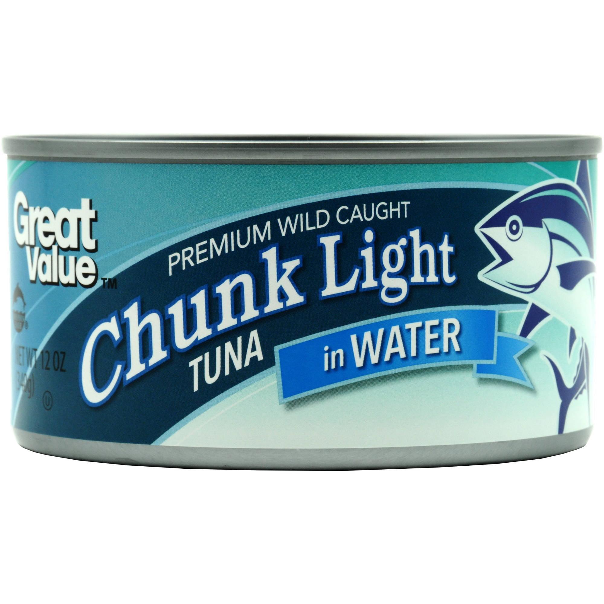 Great Value Chunk Light Tuna In Water, 12 oz