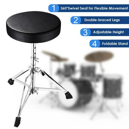 Yescom Drum Throne Padded Seat Drummer Stool Round Chair 12