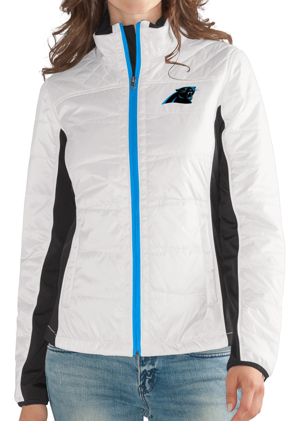 "Carolina Panthers Women's NFL G-III ""Fullback"" Full Zip Quilted Jacket by G-III Sports"