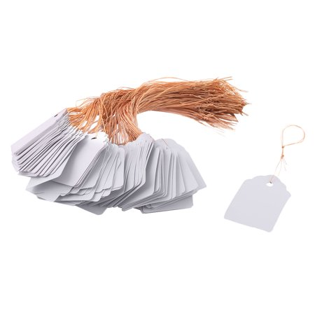 200 Pcs Flower Glass (Home Plastic String Hanging Plant Flower Seed Label Marker Light Gray 200 Pcs )