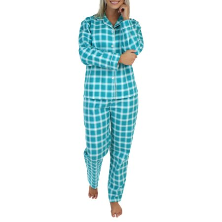 PajamaMania Women's Flannel Long Sleeve Pajama - Halloween Pajamas Womens