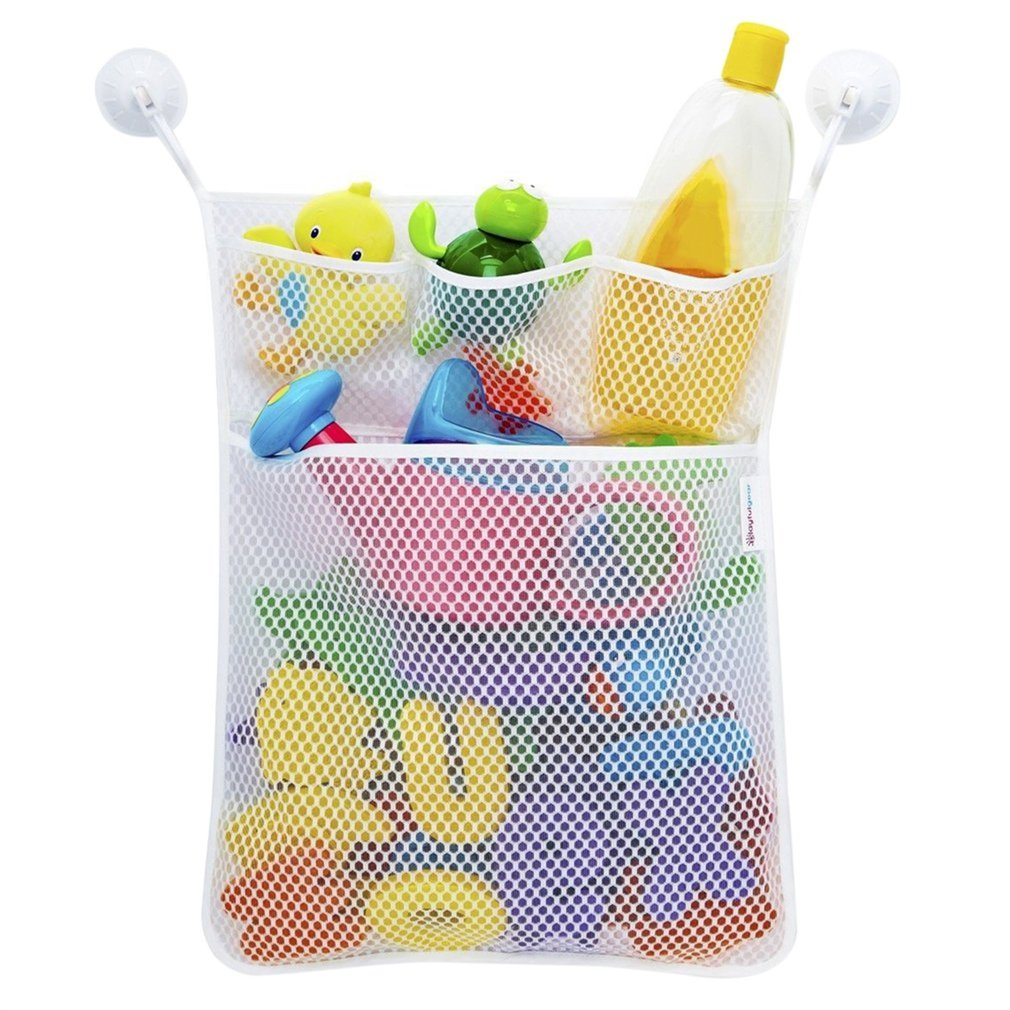 2017 NewLarge Capacity Multifunctional Waterproof Baby Children Shower Bath Toy Storage Bag Bathroom Hanging Organizer Bag